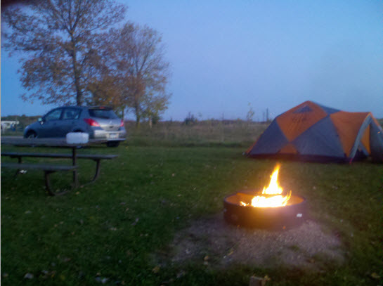 Sibley State Park campsite