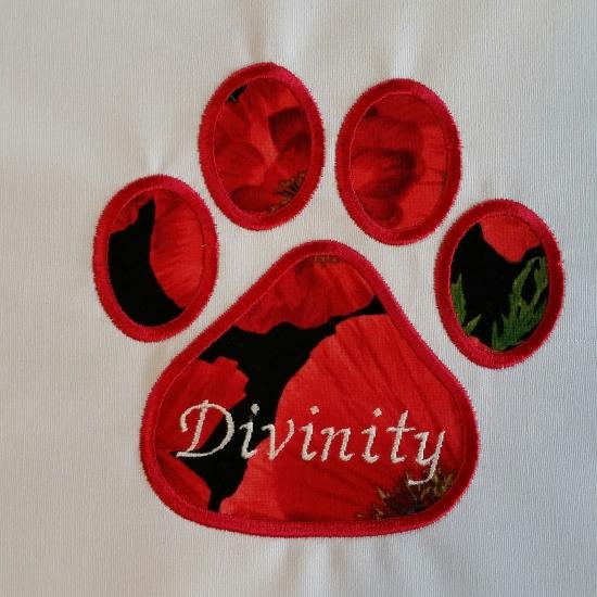 Divinity's Paw Print Square