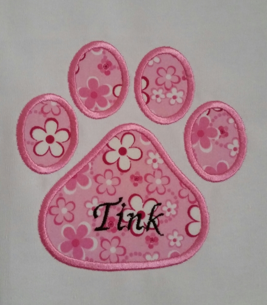 Tink's Paw Print Square