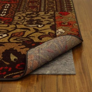 Rugs with no-slip mats are a great way to help an older dog get around your house.