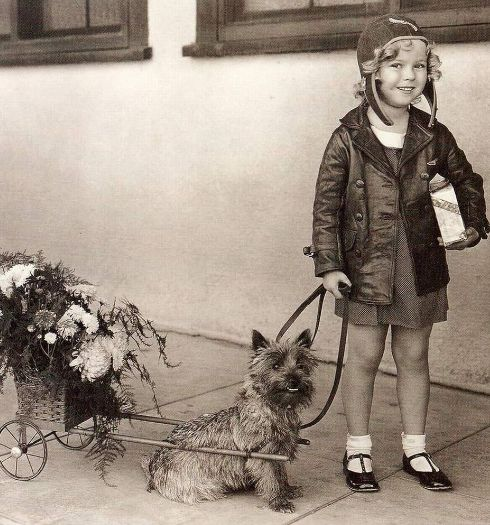 Terry with Shirley Temple