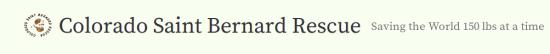 Colorado Saint Bernard Rescue - Banner